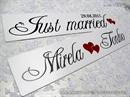 auto tablica za vjenčanje tip 15