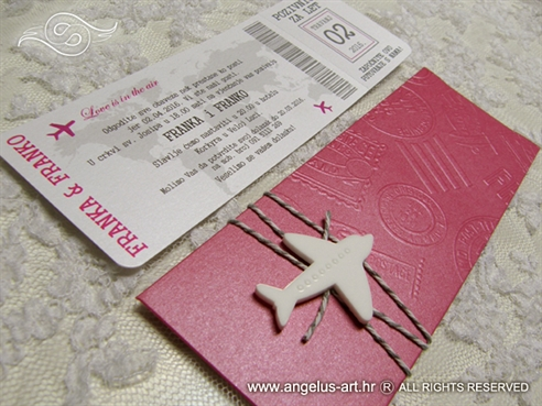 Pink Boarding pass