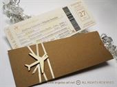 Pozivnice za vjenčanje - Natural Boarding pass