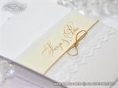 Pozivnica za vjenčanje Glorius Gold Lace