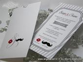 Pozivnica za vjenčanje - White Mustache Charm