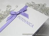 Pozivnica za vjenčanje Putovnica lila 2