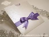 Pozivnica za vjenčanje Purple Butterfly Charm