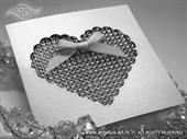 Pozivnica za vjenčanje - Shine Heart Shaped