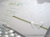 Pozivnica za vjenčanje White Butterfly Charm