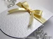 Pozivnica za vjenčanje Cream Flower Classic