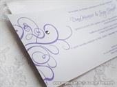 Pozivnica za vjenčanje Purple Line 2