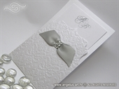 White and Silver Wedding invitation - Destiny Exclusive White
