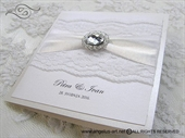 Wedding invitation - Stylish White Lace 2