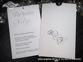 Pozivnica za vjenčanje Charm Print Silver
