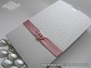 Pozivnica za vjenčanje rozo bijela etui