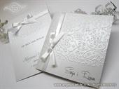 Pozivnica za vjenčanje - Stylish White