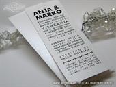 Pozivnica za vjenčanje - Tipografska White Line