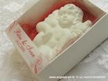 bijeli anđeo magnet za vjenčanje na crvenom sisalu