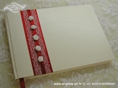Knjiga gostiju za vjenčanje Ruže na crvenom