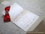 bijelo crvena pozivnica s tiskom iznutra