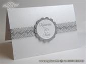 Pozivnica za vjenčanje Silver Lace Sunshine