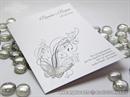 Zahvalnica za vjenčanje Leptirov let - silver
