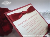 Wedding invitation - Lovely in Red