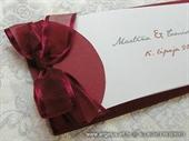 Pozivnica za vjenčanje Vintage Bordo