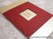 Pozivnica za vjenčanje Passion Red True Love