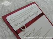 Pozivnica za vjenčanjeLovely Burgundy Heart