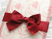 Pozivnica za vjenčanje Red Hearts Love