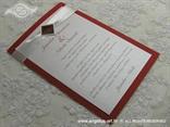 bordo pozivnica za vjenčanje s ružom