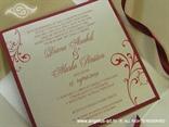 bordo šampanj pozivnica za vjenčanje u omotnici