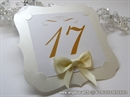 Broj stola za svadbenu večeru - Champagne Frame