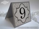 Broj stola za vjenčanje - Damask Silver