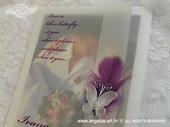 Zahvalnica za vjenčanje Leptir i pero