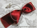 Kitica za rever za goste vjenčanje - Red Pearls