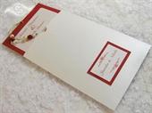 Pozivnica za vjenčanje Red Pearl Charm 2