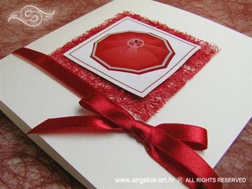crvena pozivnica s kišobranom