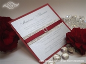 Wedding invitation - Red and Silver Lovely