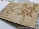 Pozivnica za vjenčanje - Drvena pozivnica Roses