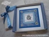 Ekskluzivna čestitka za razne prigode u kutiji dekorirana srebrnim anđelom
