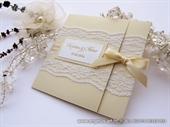 Pozivnice za vjenčanje-Cream Classic Lace Invitation