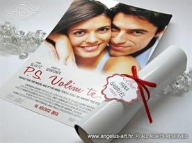 filmski plakat pozivnica za vjencanje ps i love you