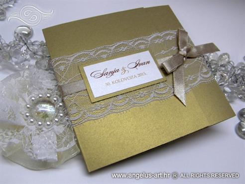 Golden Classic Lace Invitation