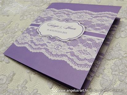 budget purple wedding invitation