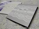 budget silver lace wedding invitation