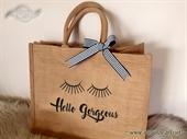 Jutena torba sa natpisom Hello Gorgeus