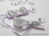 kitica i narukvica za vjenčanje lila srebrna s vilinim konjicem