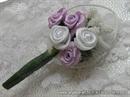Kitica za rever za goste vjenčanje - White Petal Roses