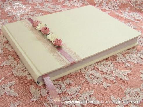 knjiga dojmova za vjenčanje romantične roze ruže