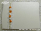 Knjiga gostiju za vjenčanje Narančaste ruže