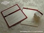 Komplet za vjenčanje crvena pozivnica i zahvalnica