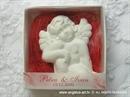 Konfet za vjenčanje Magnet bijelo crveni anđeo